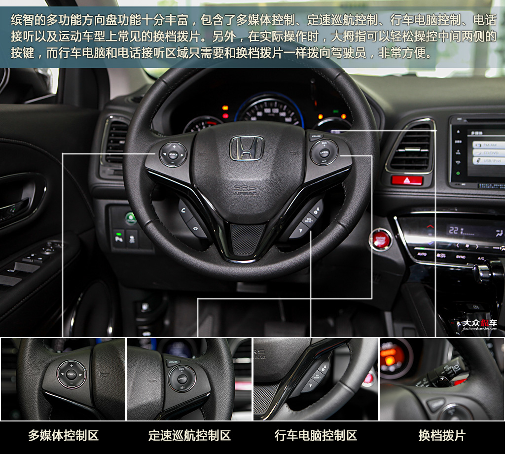 图解广汽本田缤智1.8l 四驱旗舰版