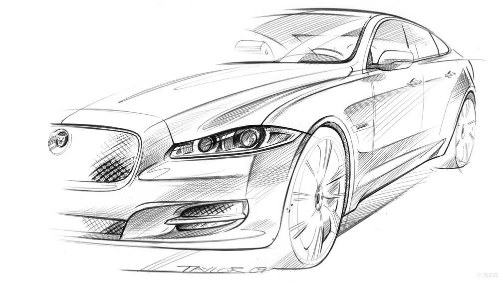 车的素描画步骤图片